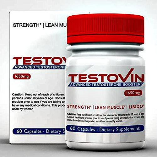 Testovin : Meilleur Booster de testostérone naturelle pour hommes - pour augmente la croissance musculaire, haute de la libido, énergie & bestiale Libido - Anti oestrogène pile - tous les suppléments naturels masculins, avec le Zinc et le fenugrec