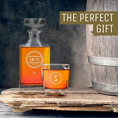 Personalized Whisky Decanter & Whiskey Glass Combo Lead Free : The Heirloom by Swanky Badger (Image #4)