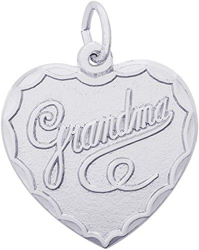 Rembrandt Charms Sterling Silver Grandma Charm (20 x 20 mm)