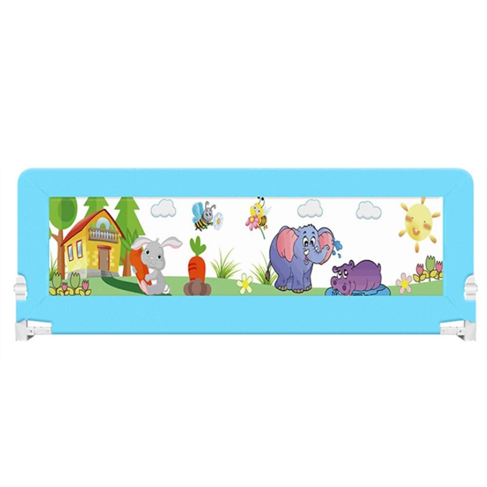 CHUNLAN ベッドガードレール ベビーベッドガードレールベビーフェンス子供用ベッドユニバーサルセーフポータブル (色 : 青, サイズ さいず : 180 * 68cm) 180*68cm 青 B07J5BSC8M