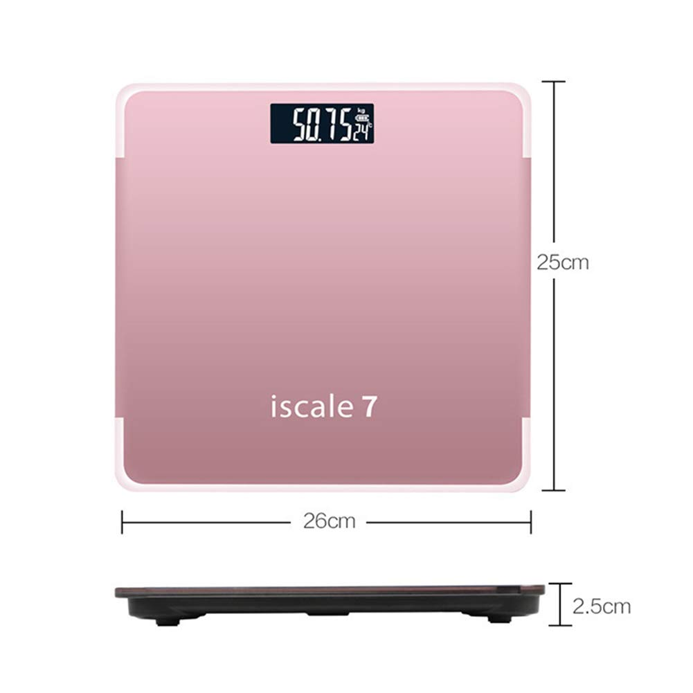 180kg High Precision Digital Electronic Scales Tempered Glass Scales Home Bathroom Floor Body Scale Black