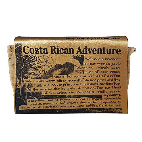 WATERFALL GLEN SOAP COMPANY - Costa Rican Adventure, bergamot and coffee scrub bath soap with shea butter 5.8oz