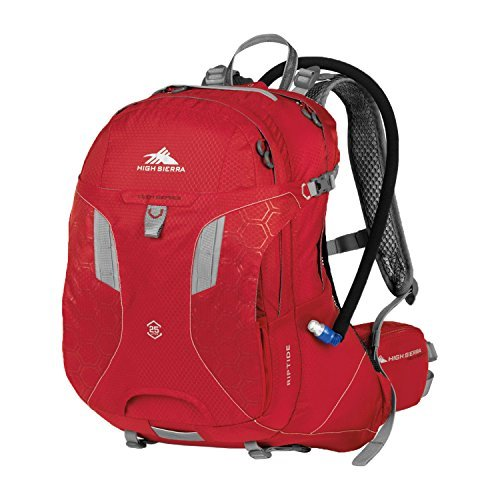 High Sierra Riptide Hydration Pack, Bright Red/Silver, 25-Liter [並行輸入品] B07DVS1NH3