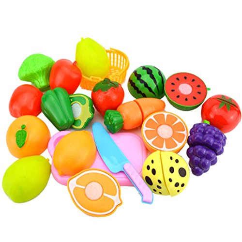 OUBAO Toy Foods Cutting Cooking Set, 2022 Kids Pretend Role Play Kitchen  Fruit Vegetable Food Toy Cutting Set Gift…