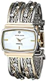 Anne Klein Women's 109271MPTT Swarovski Crystal Accented Two-Tone Multi-Chain Bracelet Watch