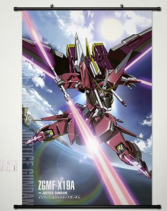 Wall Scroll Poster Fabric Painting For Anime Gundam Seed Infinite Justice Gundam 041 L