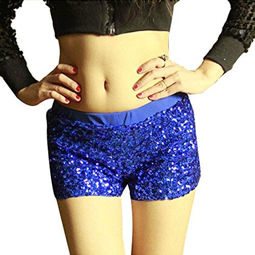 baja Dance calle en Jazz Lentejuelas Wrap moichien c la Ai Pantalones Cintura Short Fiesta Sexy Mujeres tqOPpf