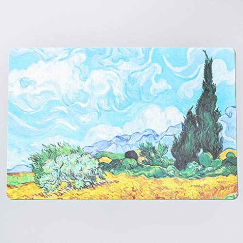 RXIN Set of 4 Van Gogh Oil Painting PVC Placemats,Heat Insulation Stain Resistant for Dining Non-Slip Table Mats
