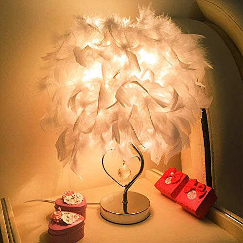 Dirance Home Decoration lamp Feather Table Bedroom Bedside lamp Simple Manufacturing Modern Romance