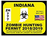 Indiana Zombie Hunting Permit(Bumper Sticker)