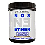 GET DIESEL NOS ETHER Stimulant free intraworkout Nitric Oxide pumps Pre and Post workout  45 Servings 1050 Grams (Strawberry Watermelon)