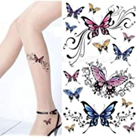 Colorful Butterfly Body Art Temporary Tattoo Removable Waterproof Sticker Sheet