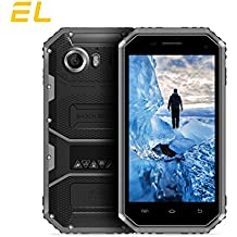 E&L W6S 3G WCDMA Rugged Smartphone Unlocked IP68 Waterproof Dustproof Shockproof 8GB/1GB Android 6.0 Camera 8MP Military Grade GSM Cellphone(Gray)