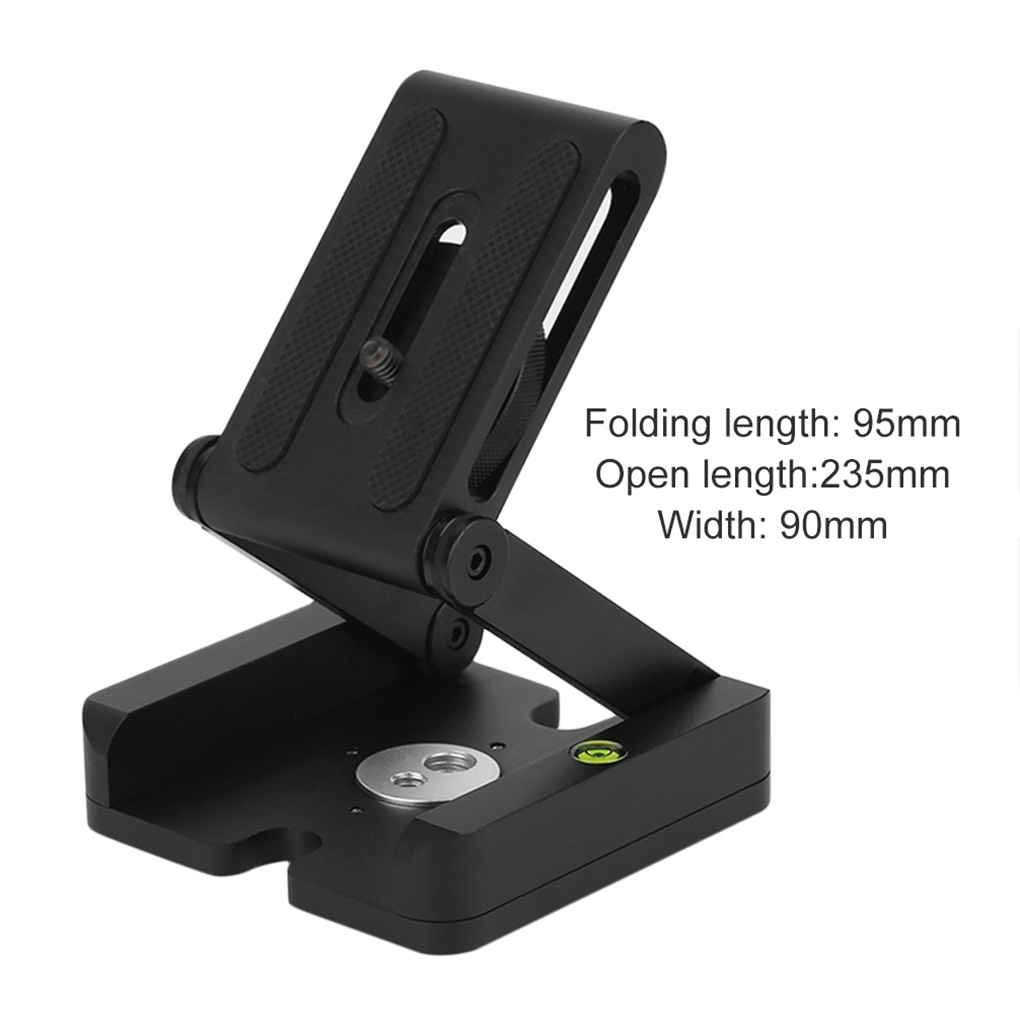 Minzhi Folding Z Type Stand Holder Professional Tripod Kit Flex Tilt Head Pan Support Cradle