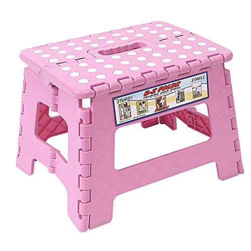 Maddott Super Strong Folding Step Stool for Adults and Kids,11x8.5x8.5inch, Holds up to 250 Lb, Pink by Maddott