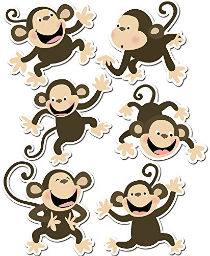 Creative Teaching Press 6-Inch Designer Cut-Outs, Monkeys (6431)