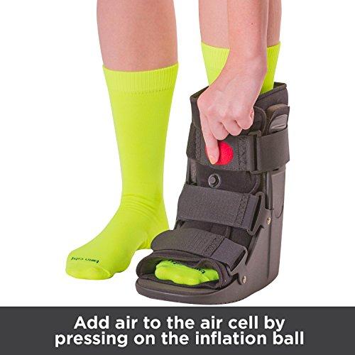 BraceAbility Short Air Ankle Walker Boot | Medical-Grade
