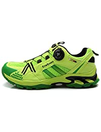 Weideng Men's Professional Cycling Sport Casual Versatile Shoe Comfortable Fiberglass-Nylon Bicycle Shoes Mountain Road Bike Shoes with Fast Knob Laces