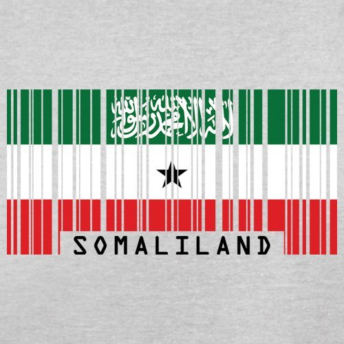 Somaliland / Republik Somaliland Barcode Flagge - Herren T-Shirt - Hellgrau - XXL