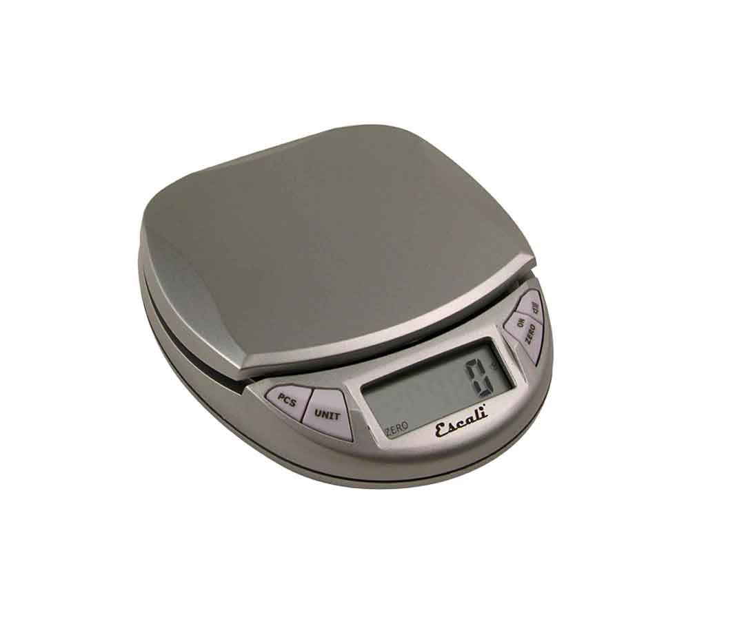 EscaliPico HP High Precision PR500S Kitchen, Office Scale, Tare Functionality, Compact Design, LCD Digital Display, 11lb Capacity, Metallic