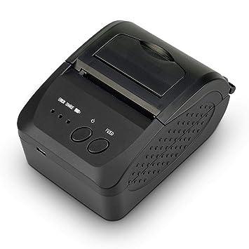FFXENG 58MM Impresora de Etiqueta Térmica Portátil, Mini Ticketera ...
