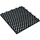 Ship Now Supply SNMAT320BK Lok-Tyle Drainage Mats, Tile, 12'' x 12'', width, 12'' Length, black