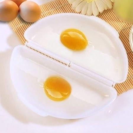 Idea - Olla de horno para microondas con dos huevos de ...