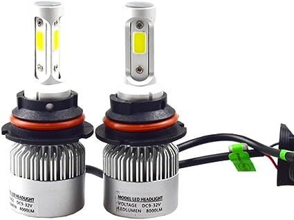 VORCOOL Bombillas para faros LED para automóviles 36W 9-32V 8000LM ...
