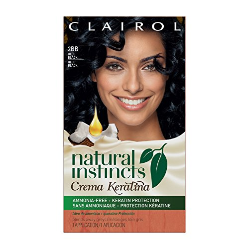 - Clairol Natural Instincts Crema Keratina Hair Color Kit, Blue Black 2BB Blueberry Creme