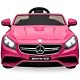 12 volt battery cars for kids - Best Choice Products 12V Kids Battery Powered Licensed Mercedes-Benz S63 Coupe RC Ride-On Car w/ Parent Control, LED Lights, MP3 Player, 3 Speeds - Pink