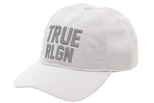 True Religion Men s Reflective White Baseball Cap Hat (One Size Fits Most)   Amazon.co.uk  Clothing e0443b52817b