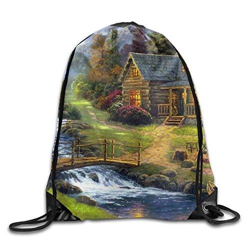 Elks Livingg In Village Of Dorset Unisex Home Gym Sack Bag Sport Drawstring Backpack Bag (Best Villages In Dorset)