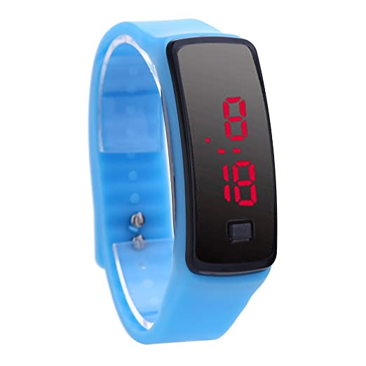 Reloj De Pulsera Demiawaking Moda LED pulsera Relojes digitales Unisex Sports Wristwatch (Azul)