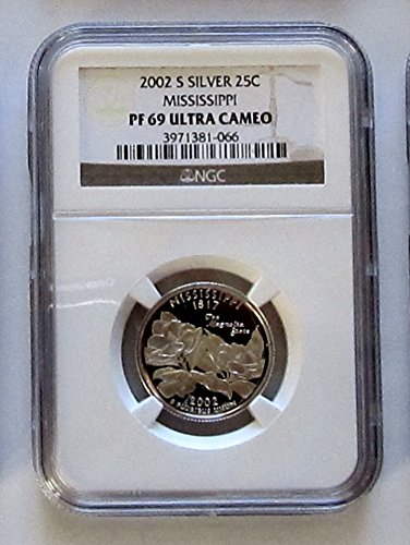 2002-S Mississippi Silver State Quarter NGC PF69