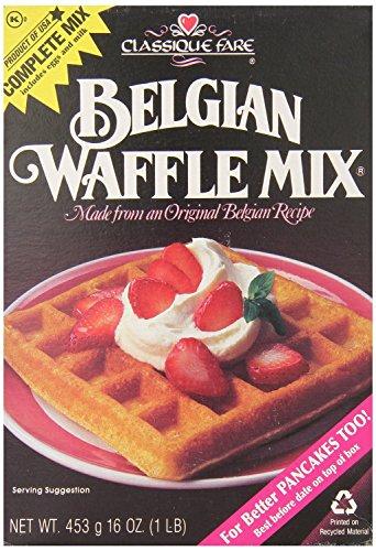 Classique Fare Belgian Waffle Mix 16oz (Pack of 3) (Best Ever Belgian Waffles)