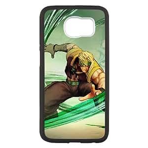 Street Fighter V V7R8Jz Funda Samsung Galaxy S6 funda caja del teléfono celular Negro T2Y4SR Protective Case funda 15D