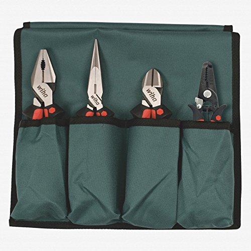 Wiha 30990 Ergo Soft Grip Industrial Set In Canvas Pouch, 4 Piece Set