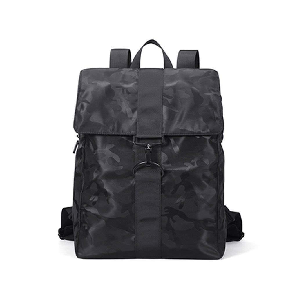 LXMCP カジュアルメンズバッグ、ファッショントレンド大容量旅行リュックサック迷彩大学生バッグラップトップデイパック、トラベルラップトップバックパック(カラー:ブラック)   B07PX1292H