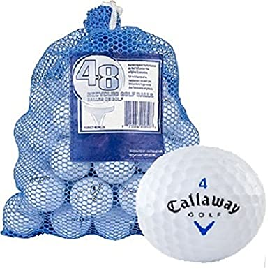 Callaway 48 AAA+ Ball Bag with HX Tour Mix Recycled Golf Balls, White