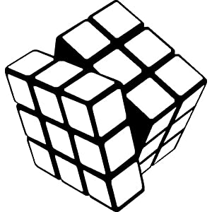 Rubix Cube Decal Vinyl Sticker|Cars Trucks Vans Walls Laptop| BLACK |5.5 x 5 in|CCI516