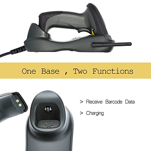 NADAMOO Wireless Barcode Scanner with USB Cradle Receiver Charging Base 433MHz Handheld 1D Cordless Laser Barcode Reader Portable Bar Code Scanning for Retail Supermaket Warehouse by NADAMOO (Image #5)