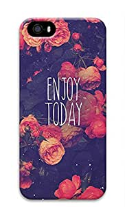 iCustomonline Enjoy Today Red Roses 3D Hard Back Shell Cover for iPhone 5 5S