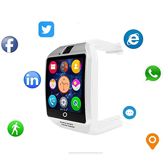 Smartwatch Sim Card Camera for Men Women Kids - Bluetooth Smart Watches Android Cell Phone Watch Card SD with Pedometer Music Player (White2)