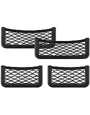 BTkviseQat Storage Net Bag Car Storage Pocket, Car Trunk Storage Bag,4 Pcs Quality Elastic Car Net Pocket(2 Large and 2 Small
