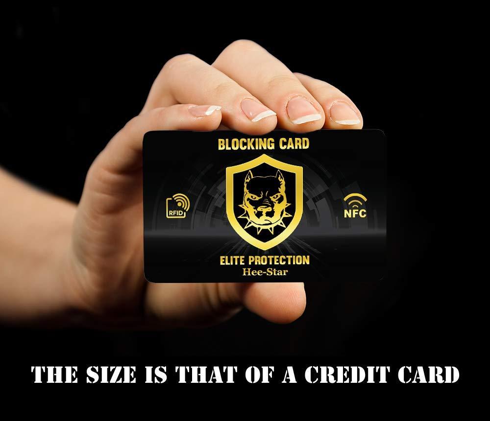 Protezione Rfid - Card Proteggi Carte di Credito e Bancomat Contactless -  Carta di Protezione Anti Rfid e Anti Nfc - Rende il Portafoglio Schermato e Totalmente Protetto - Rfid Protection