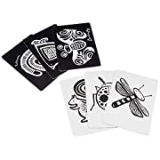 Wee Gallery Art Cards for Baby, High Contrast Black and White Cards for Baby, Farm Collection - 0 to 12 Months