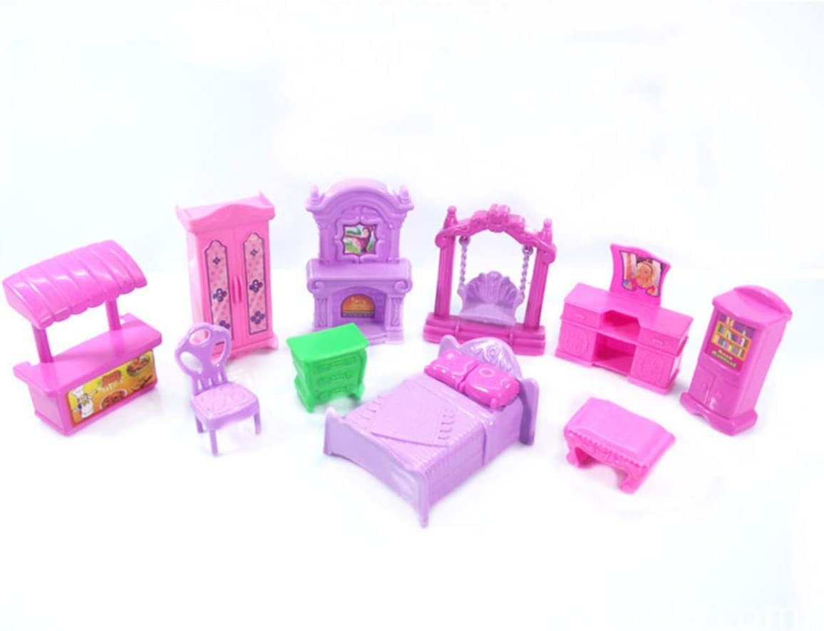 newwyt 1Set 22Pcs Lol Dolls Furniture TV Chair Table Bathtub Sofa Bed Toys for Kids Lol Accessories Size Suit for LOL Dolls Toys