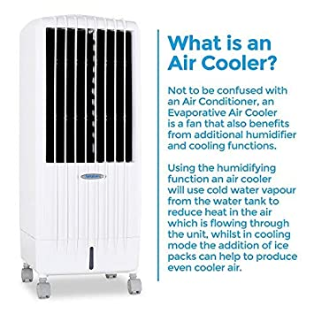 Air Purifier Advanced i Technology 7 Hour Timer and 9 Ltr Water Tank For Home or Office Use 3 Fan Speeds Oscillating Louvers Ds9i Portable Evaporative Air Cooler Remote Control