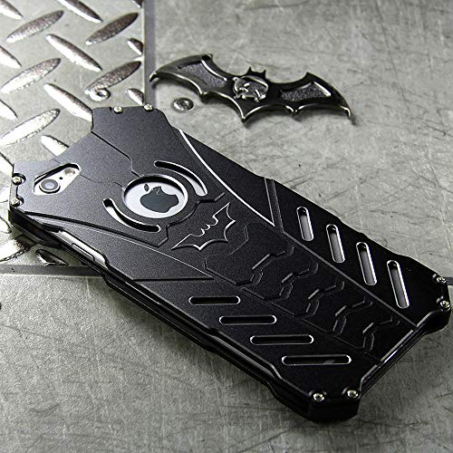 GOODKSSOP R-JUST Luxury Aluminum Shell Bumper Shockproof Tough Armor Metal Back Case Skin Protective Cover For iPhone 6 Plus / 6S Plus 5.5'+ Free Bat Kickstand (Fit for iPhone 6/6s Plus 5.5')