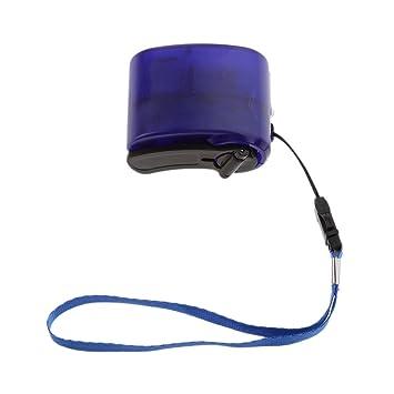 USB Manivela Carga Generador Manual Cranked Teléfono Emergencia Acampada - Azul